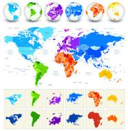 World Map Detailed Geography in Full Color