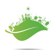 Green ecology City environmentally friendly