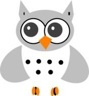 White Baby Owl At Clkercom Vector Online Royalty
