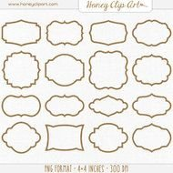 Frames Rustic Wedding Shape Burlap Overlay Designs