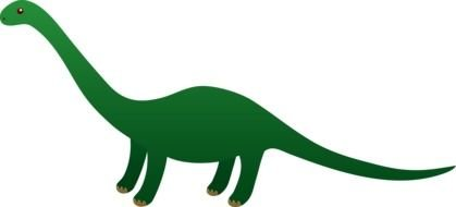 painted green dinosaur with a long neck