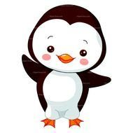 Cute Penguin Black And White Baby drawing