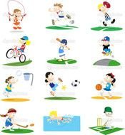clipart with different sports