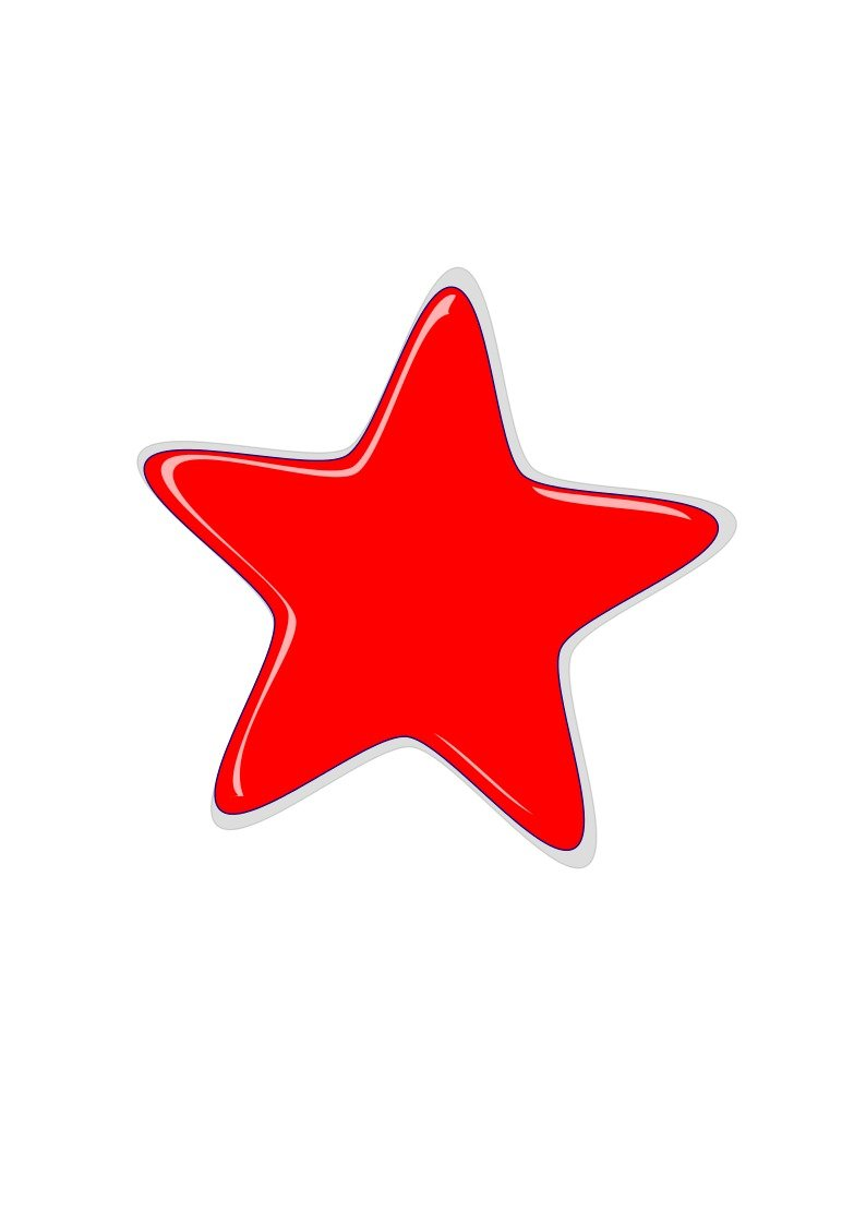 red star on the white background