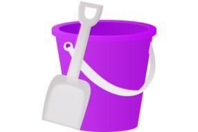 Bucket and shovel clipart