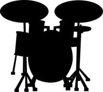 Drum Set Outline Drums Vector Clip