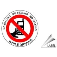 Clipart of No texting while driving sign