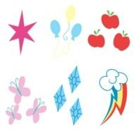 Clipart of little ponies marks