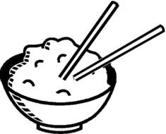 Clipart of the rice in a bowl