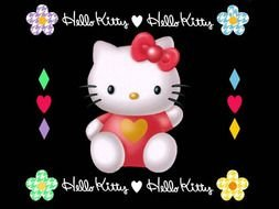 Colorful Hello Kitty clipart
