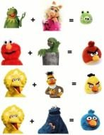 Are The Angry Birds Muppet Love Children clipart