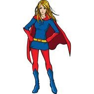 Colorful woman superhero clipart