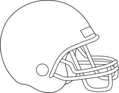 american Football Helmet, Coloring Page