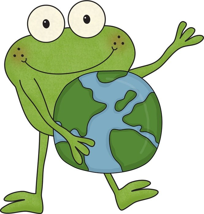 Earth Day frog drawing