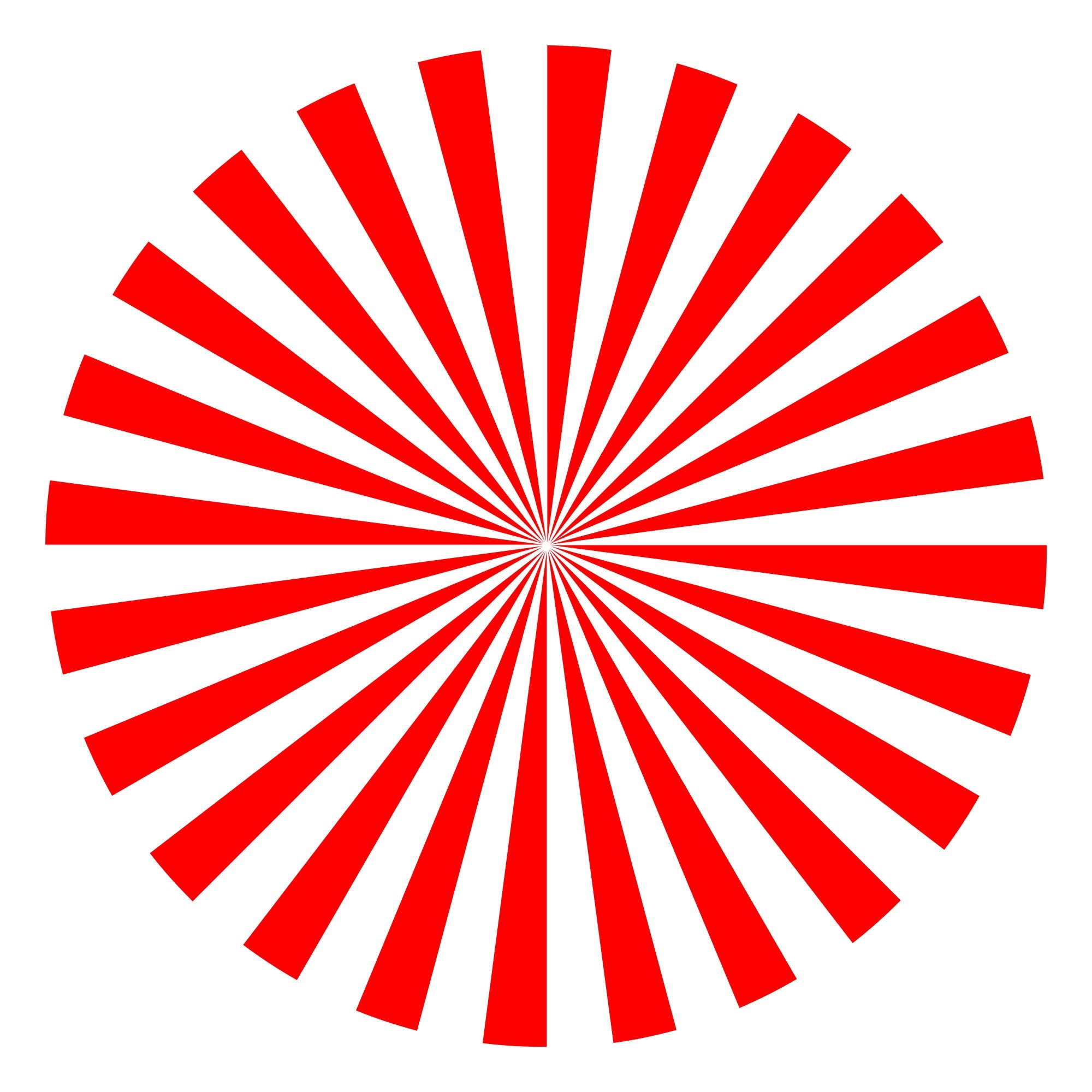 red-white striped circle