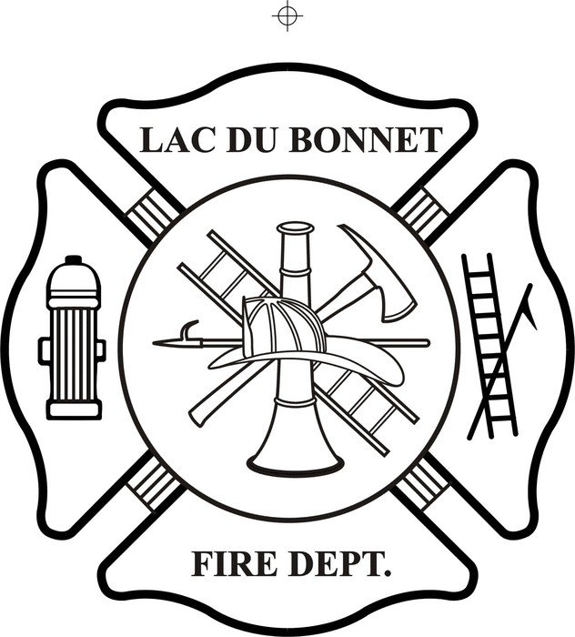 colorless fire department logo