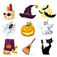 Clip art of Halloween icons