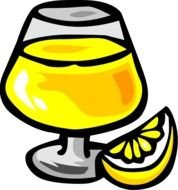 Clipart of yellow alcohol beverage