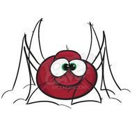 Clipart of scary spider