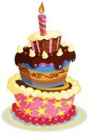 Beautiful big colorful Birthday Cake clipart