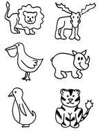 clip art with zoo animals