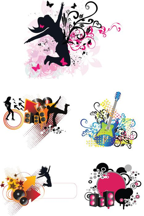 clip art with music instruments