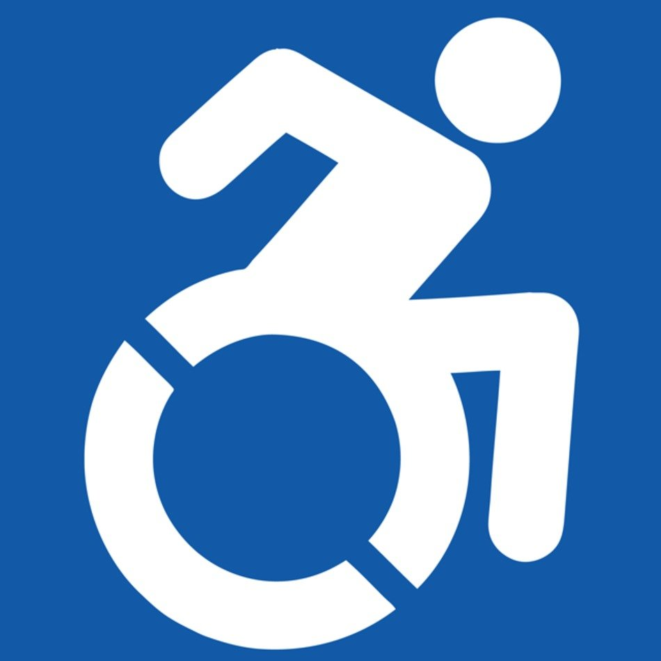 sign of a person in wheelchair
