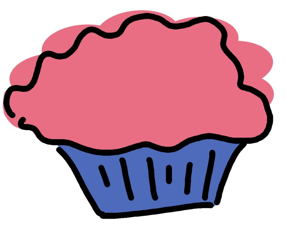Cupcake with pink cream