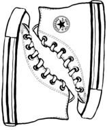 Clipart of Converse shoes