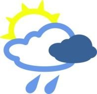 Sun And Rain Weather Symbols At Clkercom Vector clipart