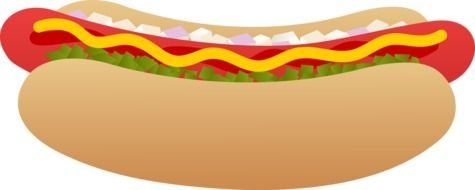 hot dog with sauce as a graphic image