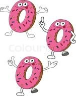 Colorful smiling donuts clipart