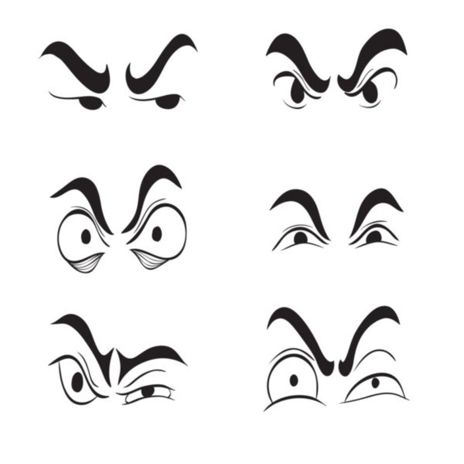 15 Angry Cartoon Eyes Frees That You Can Download To Free Image