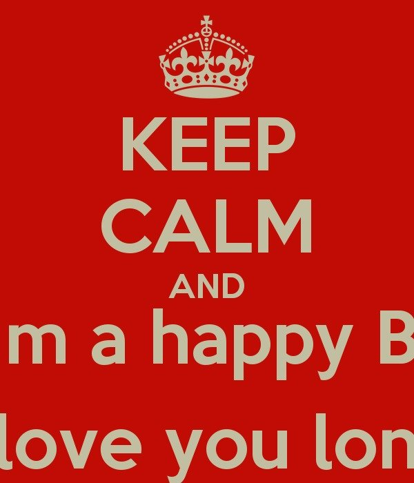 Keep Calm And Wish Him A Happy Birthday Kyme Love You Long Time Clipart