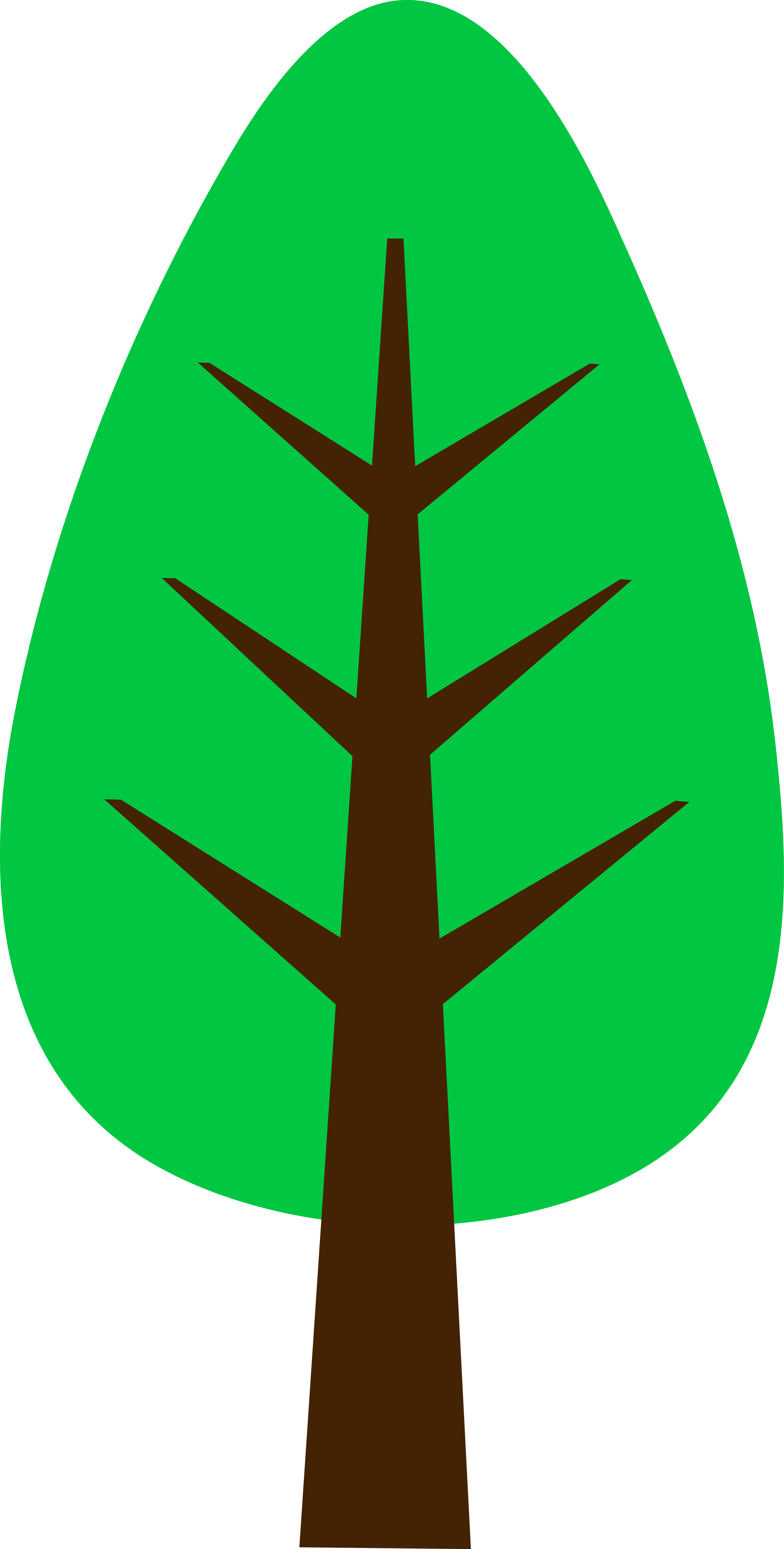 Cute Simple Green Tree Free Clipart Free Image
