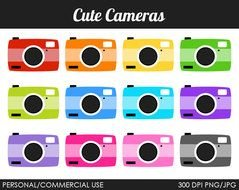 Cute Camera Digital Graphics By Mareetruelove clipart