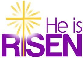 he is risen text drawing