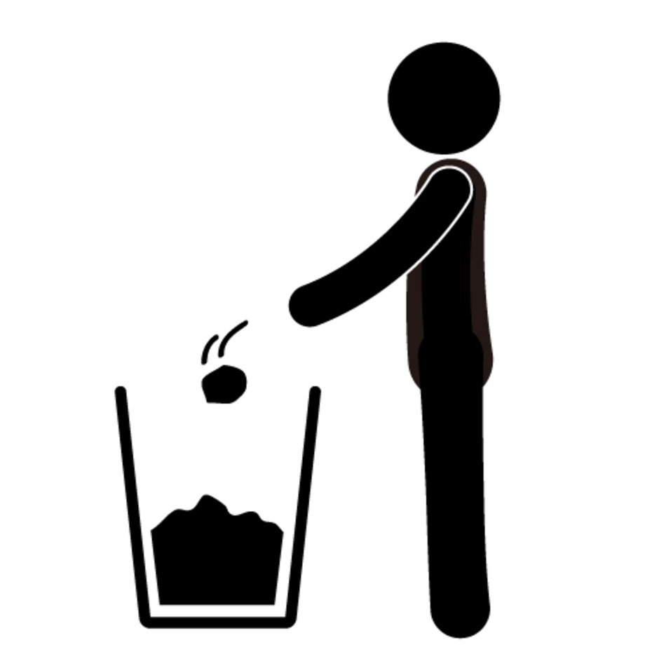 Clipart Of Throw Away Garbage Free Image