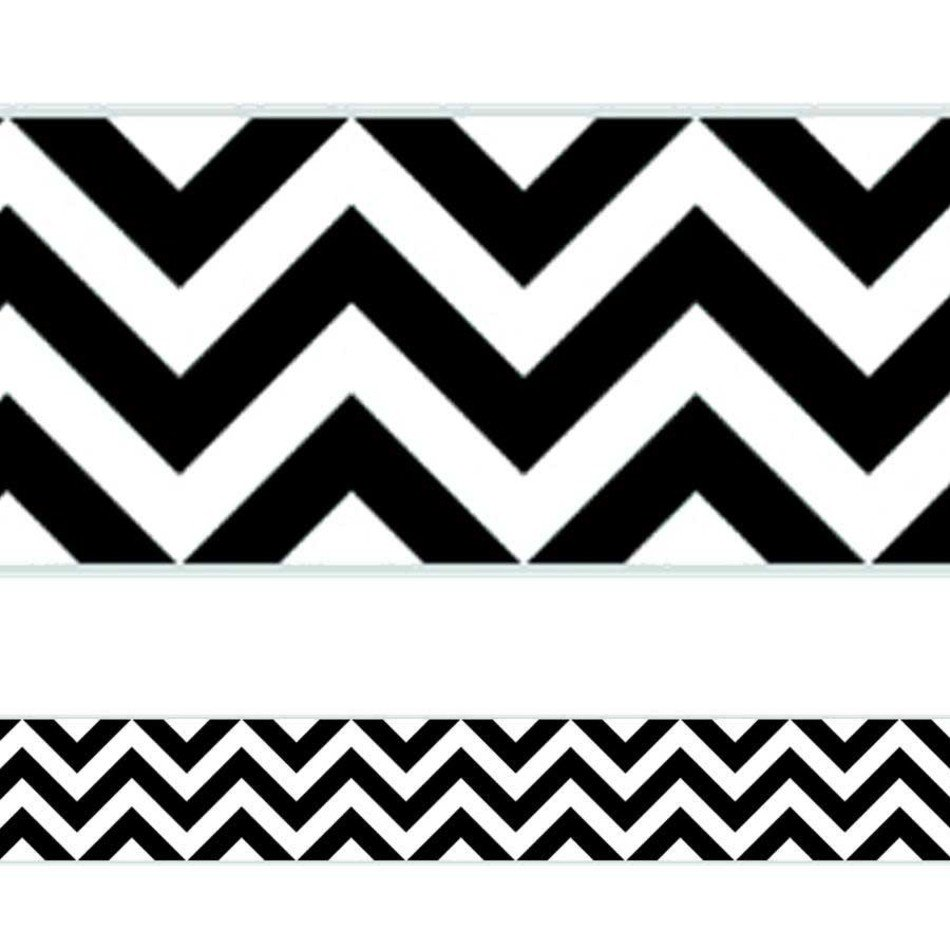 black and white chevron ornament