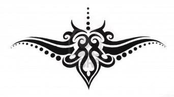 Black and white drawing of the tattoo clipart