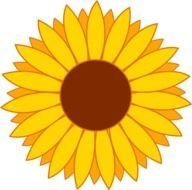 Simple Yellow Sunflower Design Free clipart