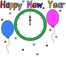 Happy New Year 2014 clipart