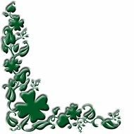 Green Irish frame clipart