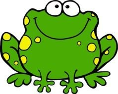 Cute cartoon frog clipart