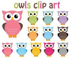 Owls Clip art drawing