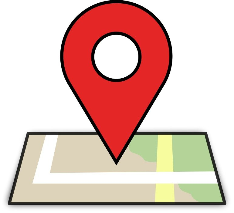 drawing of Location map pin