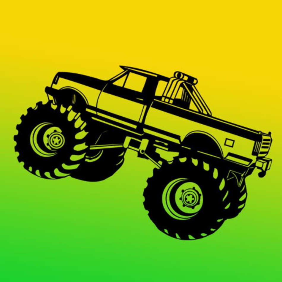 Details About Monster Truck Pickup Art Vinyl Wall Decal Sticker free ...