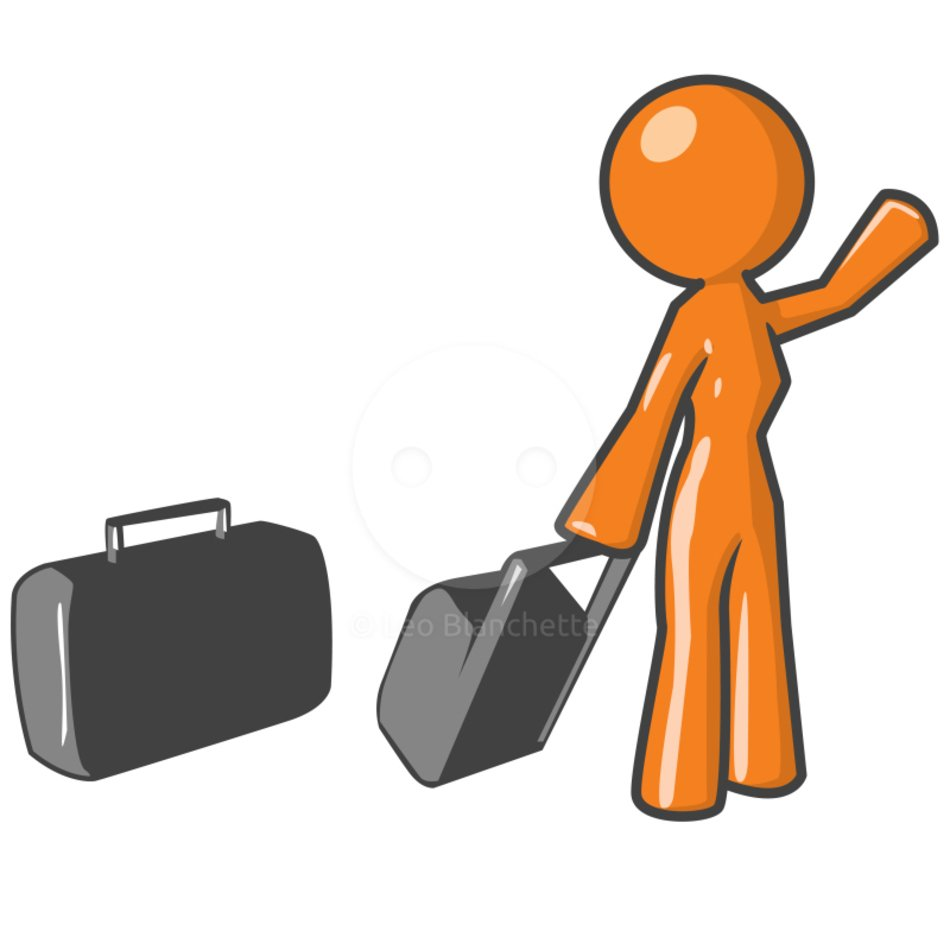 stickman with luggage