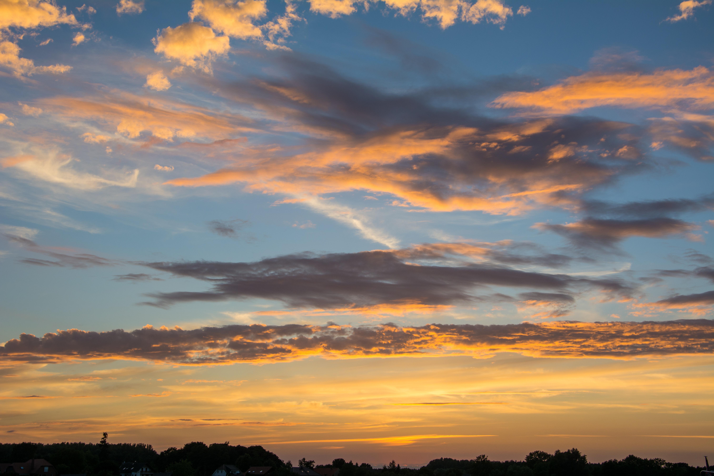 orange sunset clouds evening sky romantic mood free image https pixy org 422895