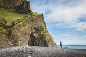 Iceland green coast cliffs